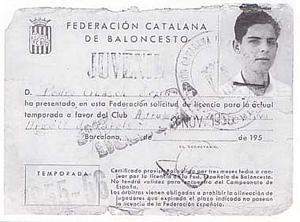 Fitcha federativa de la temporada 1955-56 de Pere Guasch
