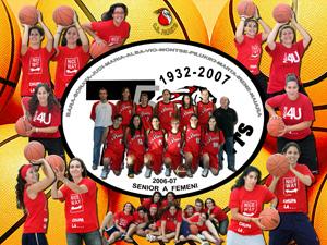 2007 L'equip Senior A Femení Amb: Sara Martinez, Sarai Redón, Judith Porras, Mari Nieto, Alba rodríguez, Violeta De Las Heras, Montse Cervera, Pili Nieto, Marta Alonso, Irene Loras i Naiara Garcia